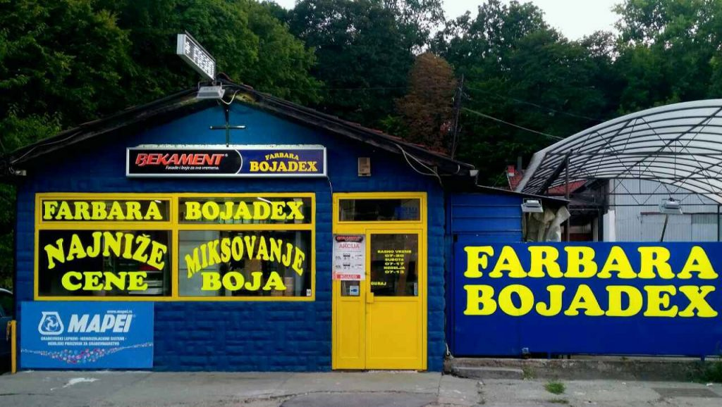 Bojadex, boje i lakovi, prodaja Beograd